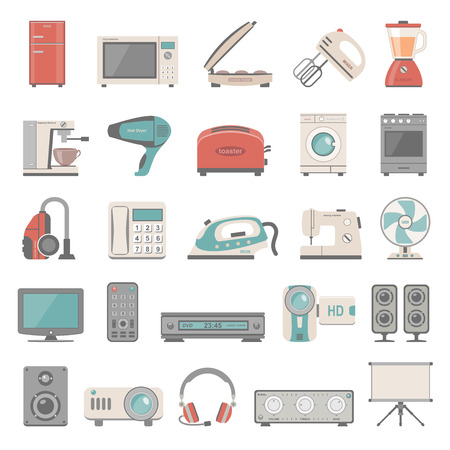 iron fan: Flat Icons  Home Appliance