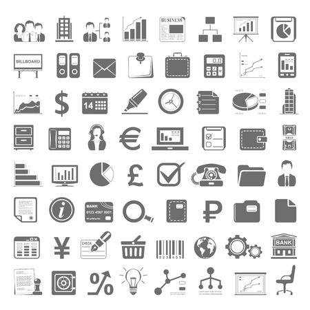 conjunto: Black Icons - Negocios y Finanzas Vectores