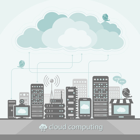 cloud computing technologies: Cloud Computing Concept Illustration