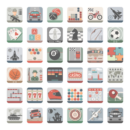 video icons: Flat Icons - Video Games