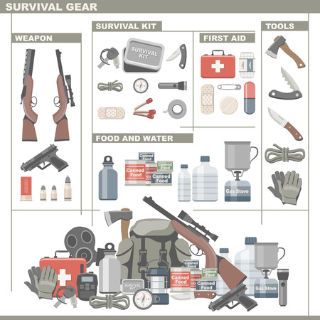 survive: Survival Gear Illustration