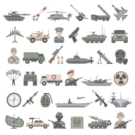 Flat Icons - Army  イラスト・ベクター素材