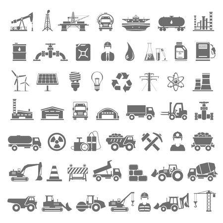 camion grua: Black Icons - Industria, Energía, Construcción Vectores