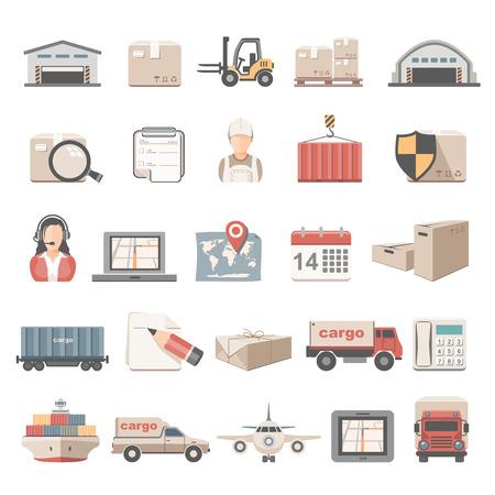 Flat Icons - Logistic Ilustrace