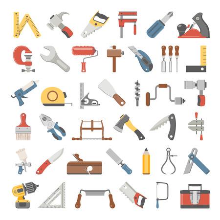Flat Icons - Hand Tools Ilustrace