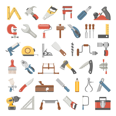 Flat Icons - Hand Tools Illustration