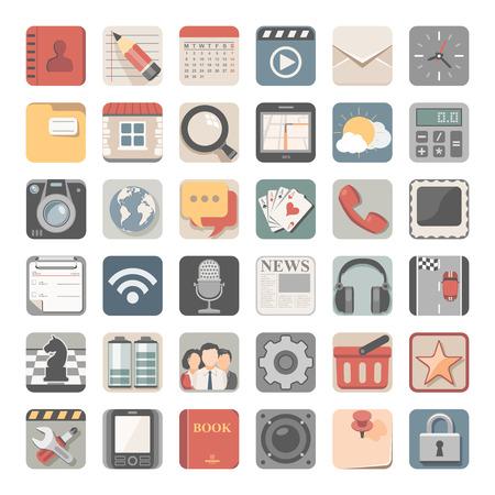 book vector: Flat App Icons Illustration