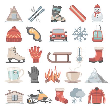Wohnung Icons - Winter Vektorgrafik
