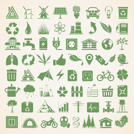 Ecology Icons Illustration