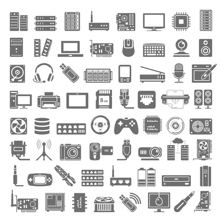 Black Icons - Computer and Network Hardware