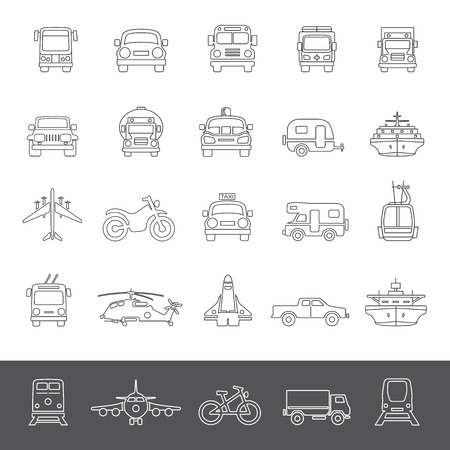 transportation icons: Line Icons - Transportation