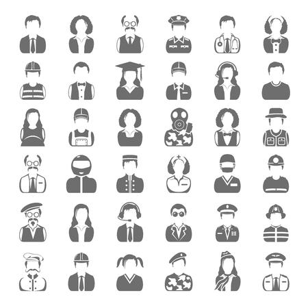 Black Icons - People Illustration