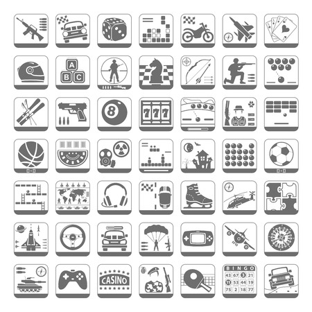 video icons: Black Icons - Video Games
