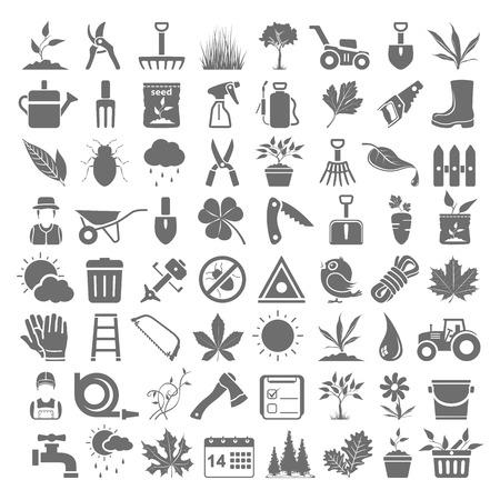 Iconos negros - Jardinería Ilustración de vector