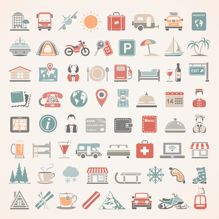 hotel bell: Flat Icons - Travel