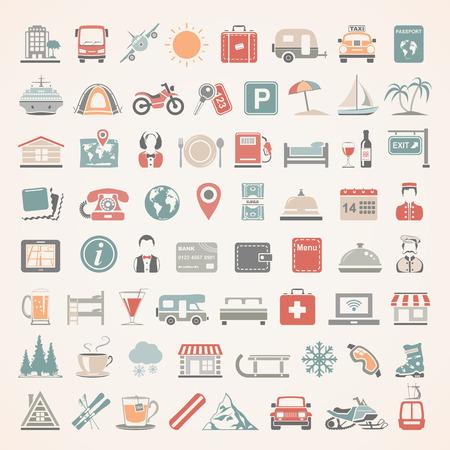 Los iconos planos - Viajes