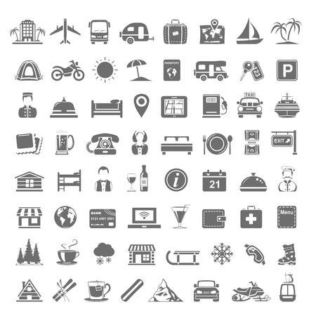 Czarne Ikony - Podróż Ilustracje wektorowe