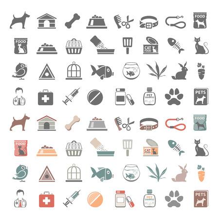 Pet Shop icone Archivio Fotografico - 54690101