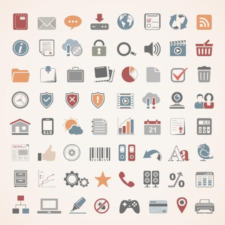 Icônes plates - Web