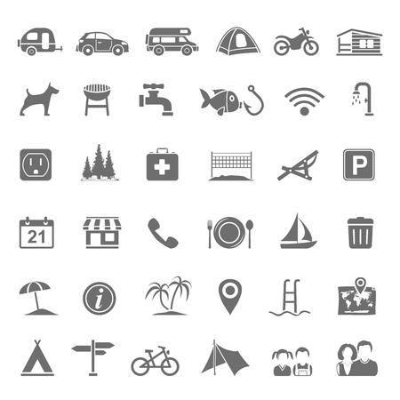 campsite: Black Icons - Campsite