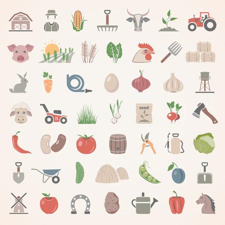 Płaskie Icons - Farm