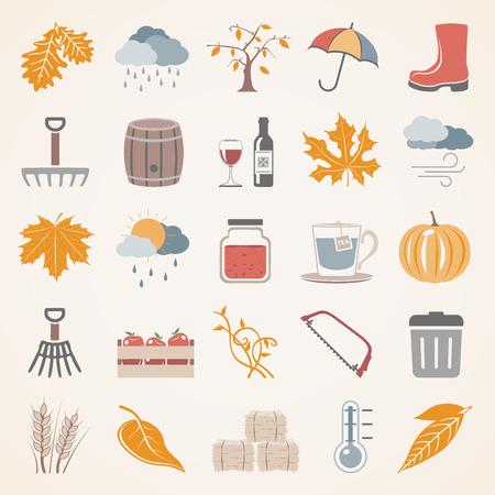 barrels: Flat Icons - Autumn