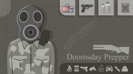 Doomsday Prepper Illustration