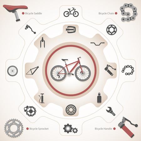 Bicycle Parts Banco de Imagens - 90182299