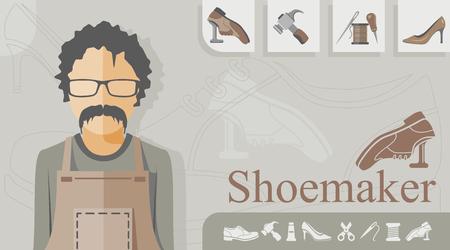 Shoemaker occupation concept illustration. Ilustracja