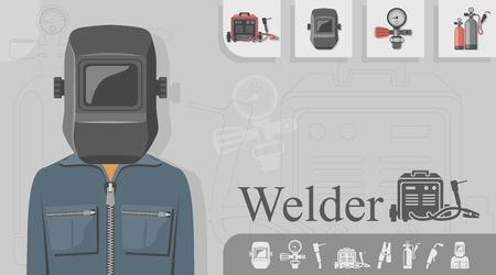 Welder occupation concept design Vettoriali