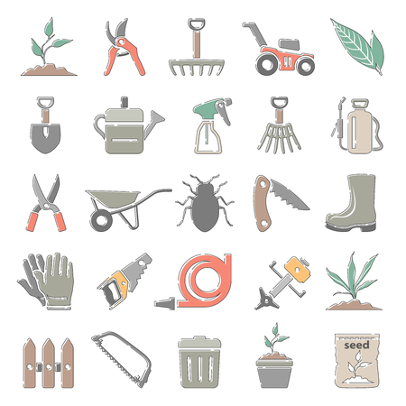 Outline Color Icons - Gardening