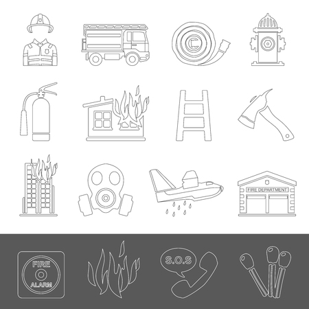 Outline Icons - Firefighting