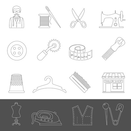 Outline Icons - Tailor Equipment