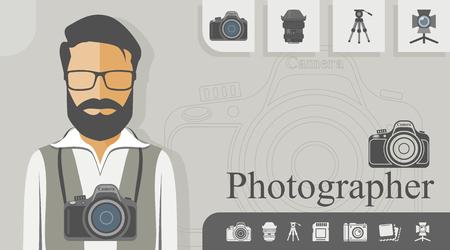 Ocupación - Fotógrafo Ilustración de vector