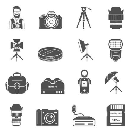 Black Icons - Photography Equipment Çizim