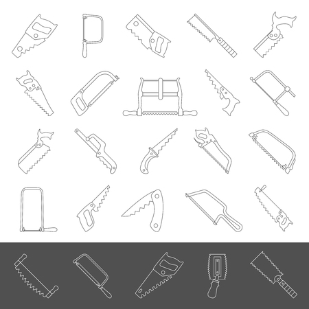 Line Icons - Hand Saws