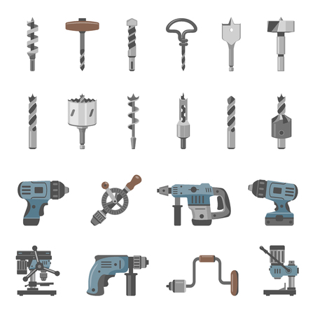 Different types of drills and drill bits