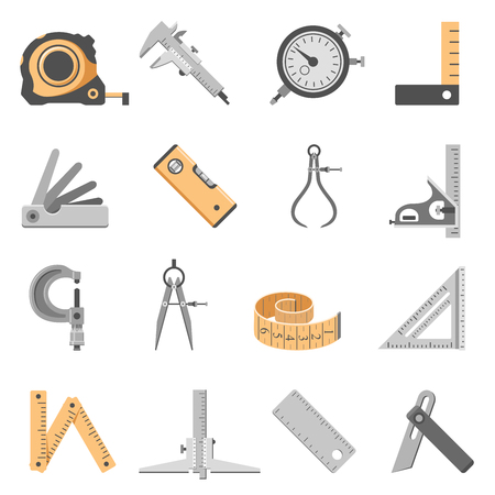 Measuring Tools Icon Set