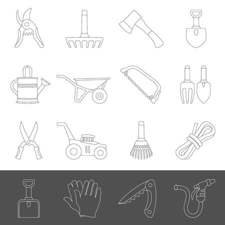 Line Icons - Garden Tools