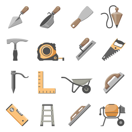 Maurerwerkzeug-Icon-Set