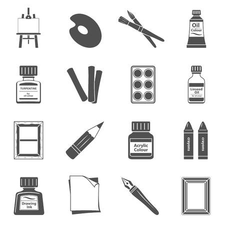 Black Icons - Art Supplies