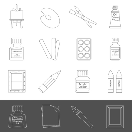 Line Icons - Art Supplies