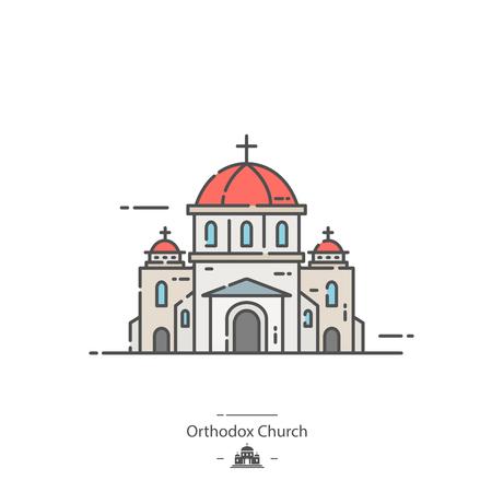 Orthodox church - Line color icon