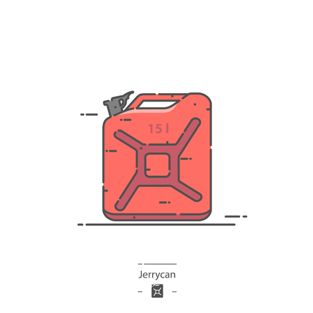 Jerrycan - Line color icon Illustration