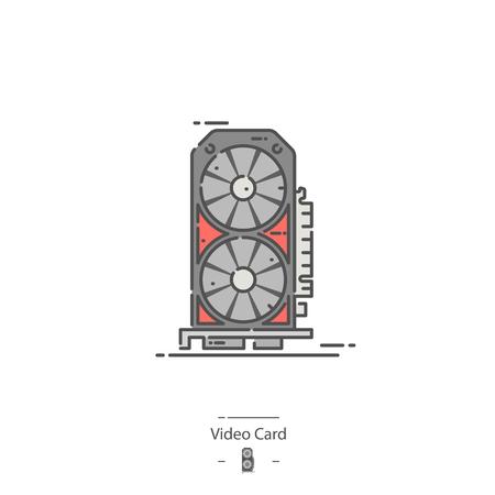 Video card - Line color icon