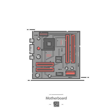Motherboard - Line color icon