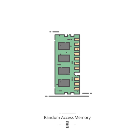 Random access memory - Line color icon
