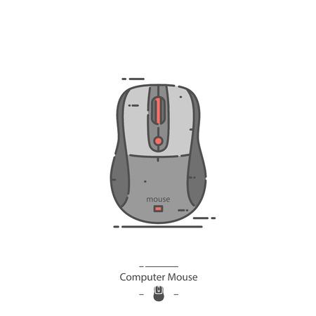 Computer mouse - Line color icon Illustration