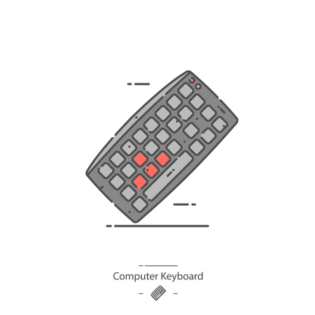 Computer keyboard - Line color icon