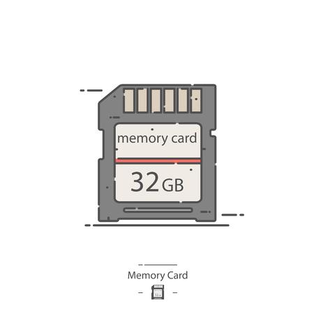 Memory card - Line color icon